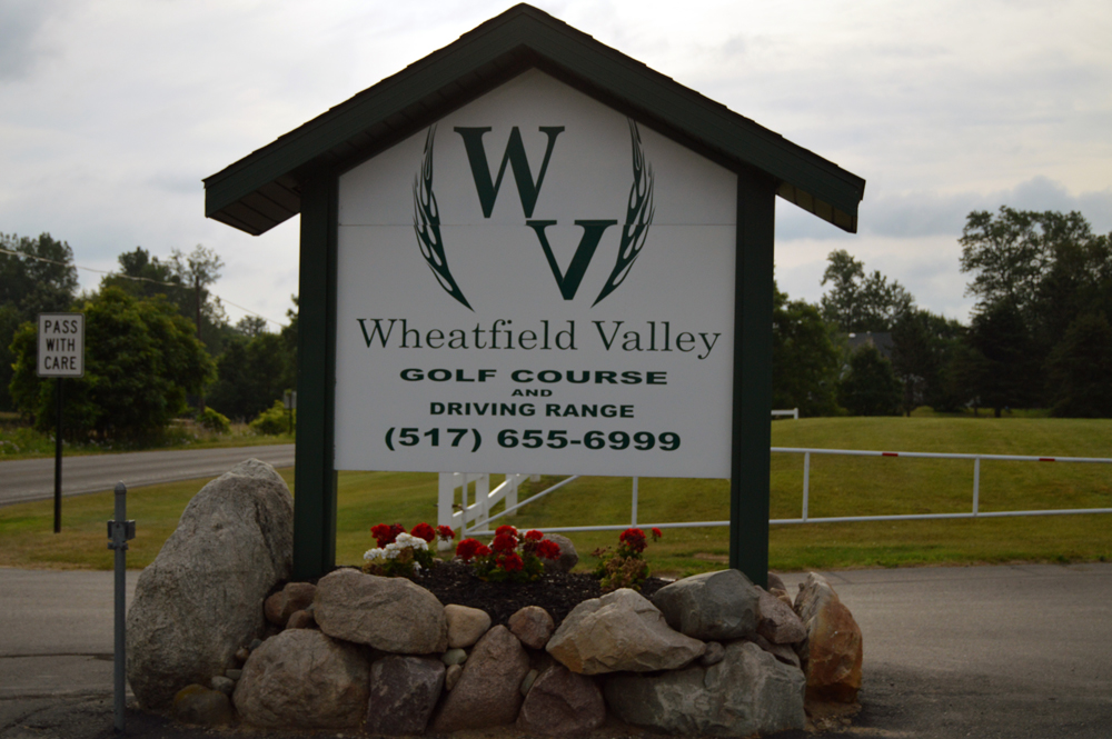 Wheatfield Valley Golf Course Entrance Sign
