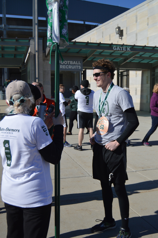 Criminal Justice undergraduate student Nick Doyle after the 5K